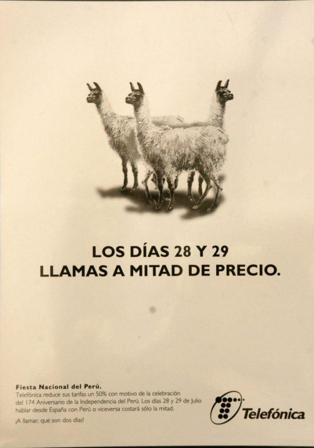 Anuncio prensa Llamas Telefonica copywriter creativo